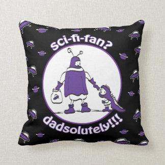 Sci-Fi-Fan Dad Throw Pillow
