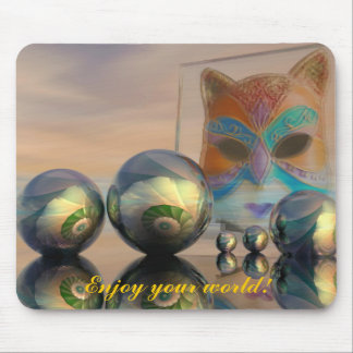 Sci-fi fantasy mousepad with cat