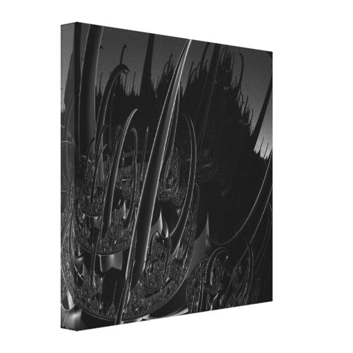 Sci-Fi Fractal Gallery Wrap Canvas