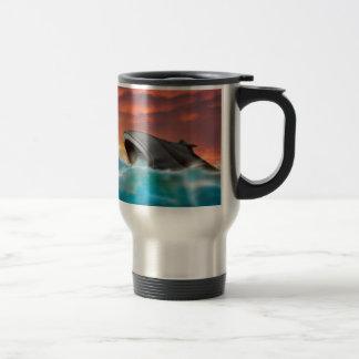 Sci-Fi Futuristic Sub coming from the Ocran Travel Mug