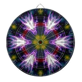 Sci-Fi Galaxy Lightning abstract art Dartboard