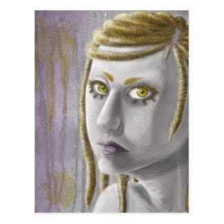 Sci-fi Girl Postcard
