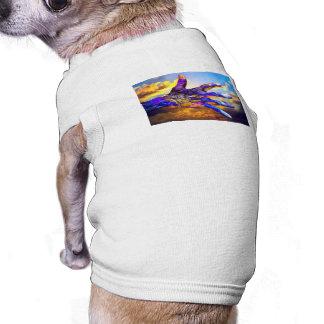 Sci-Fi Hand in the Sky Pet Tee Shirt