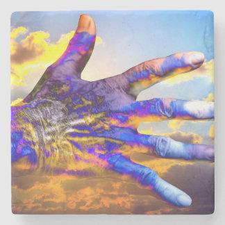Sci-Fi Hand in the Sky Stone Beverage Coaster
