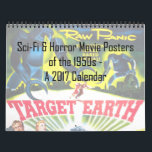 "Sci-Fi &amp; Horror Movie Posters of the &#39;50s Calendar<br><div class=""desc"">This stunning 12-month calendar features artwork from vintage posters of horror and sci-fi movies of the 1950s. Some of these films you know well,  while others you may not have ever seen. This is the perfect calendar for lovers of the &#39;50s,  classic movies,  or just beautiful vintage design!</div>"