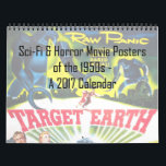 "Sci-Fi & Horror Movie Posters of the '50s Calendar<br><div class=""desc"">This stunning 12-month calendar features artwork from vintage posters of horror and sci-fi movies of the 1950s. Some of these films you know well,  while others you may not have ever seen. This is the perfect calendar for lovers of the '50s,  classic movies,  or just beautiful vintage design!</div>"