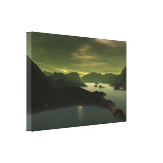 Sci-fi Landscape Canvas Print