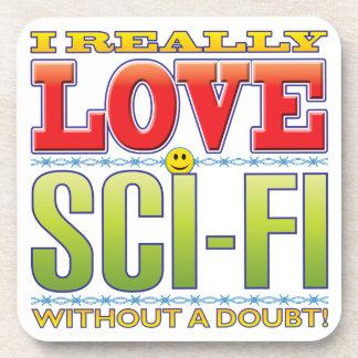 Sci-Fi Love Face Drink Coasters