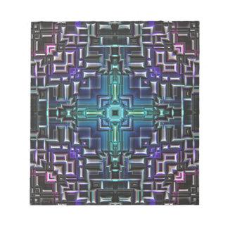 Sci Fi Metallic Shell Notepad