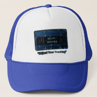 Sci-Fi Movies -Adjust Your Tracking Blue Trucker Hat