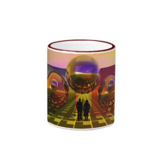 Sci-fi mug with couple