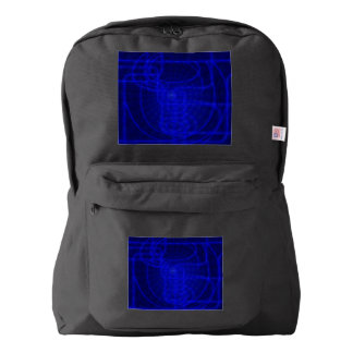 Sci-Fi Neon Circuits Backpack
