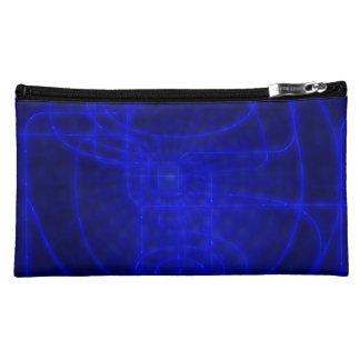 Sci-Fi Neon Circuits Cosmetic Bag
