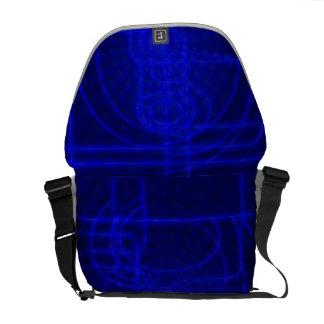 Sci-Fi Neon Circuits Courier Bag