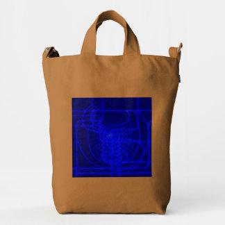 Sci-Fi Neon Circuits Duck Bag