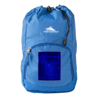 Sci-Fi Neon Circuits High Sierra Backpack