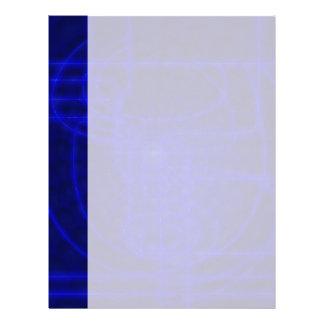 Sci-Fi Neon Circuits Letterhead