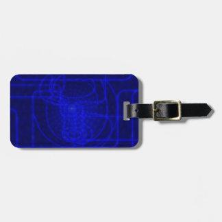 Sci-Fi Neon Circuits Luggage Tag