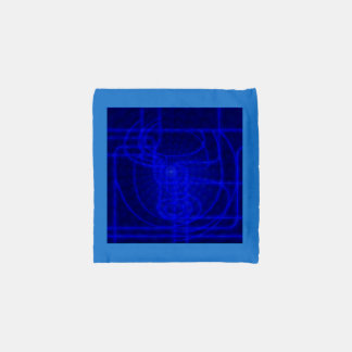 Sci-Fi Neon Circuits Reusable Bag