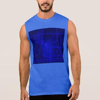 Sci-Fi Neon Circuits Sleeveless Shirt