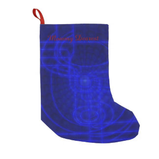 Sci-Fi Neon Circuits Small Christmas Stocking