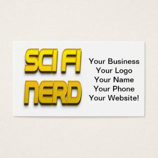 Sci-Fi Nerd Gold Business Card