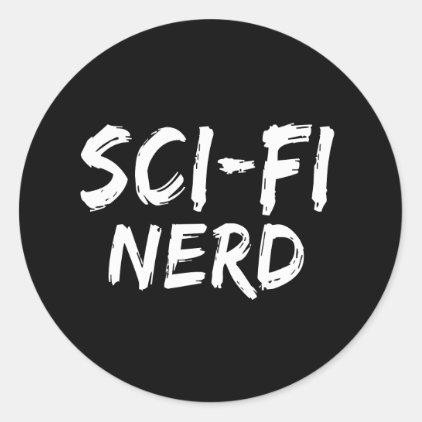 Sci Fi Nerd Print Classic Round Sticker