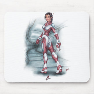 Sci-Fi Pin Up Girl Mouse Pad