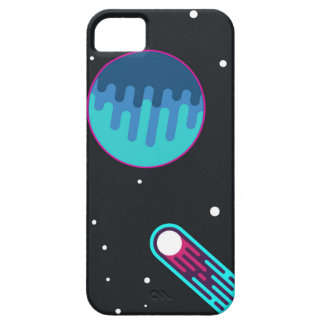 Sci-Fi Planets and Meteor in the Middle of Galaxy. iPhone SE/5/5s Case