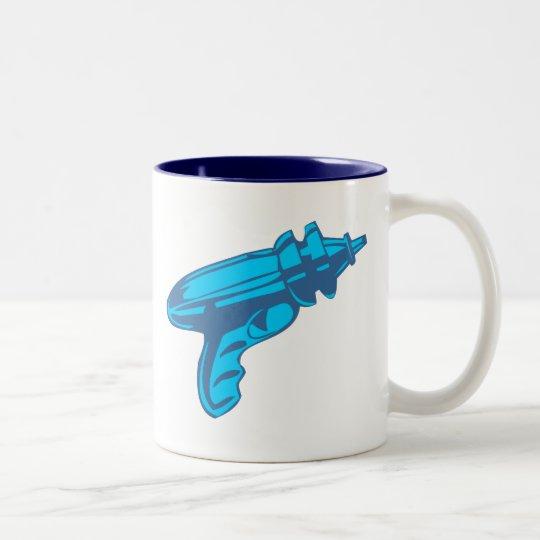 Sci-Fi Ray Gun Laser Pistol Two-Tone Coffee Mug