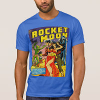 SCI FI ROCKET TO THE MOON T-Shirt