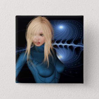 Sci-fi Scene Display Pinback Button