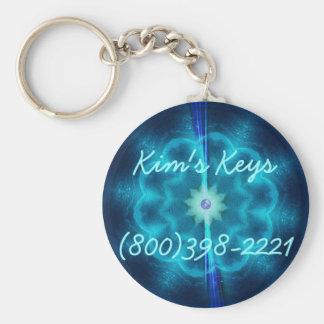 Sci-Fi Snowflake Keychain