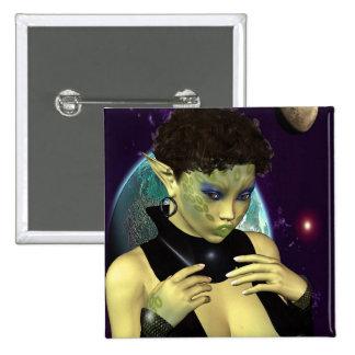 Sci-Fi Space Model 2 Inch Square Button