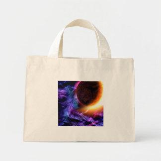 Sci-Fi Space Scene Mini Tote Bag