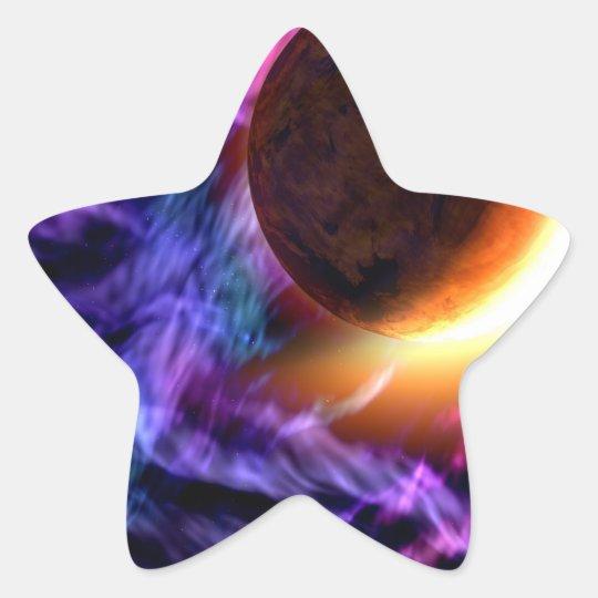 Sci-Fi Space Scene Star Sticker