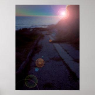 Sci-Fi Sunset San Pedro Tide Pools Poster