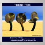 Sci-fi talking food print