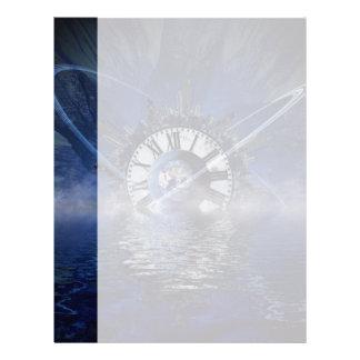 Sci-Fi Time Splash Letterhead