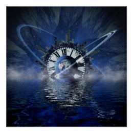 Sci-Fi Time Splash Poster