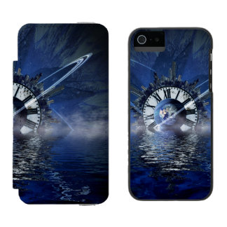 Sci-Fi Time Splash Wallet Case For iPhone SE/5/5s