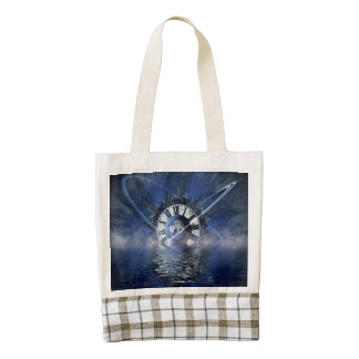 Sci-Fi Time Splash Zazzle HEART Tote Bag