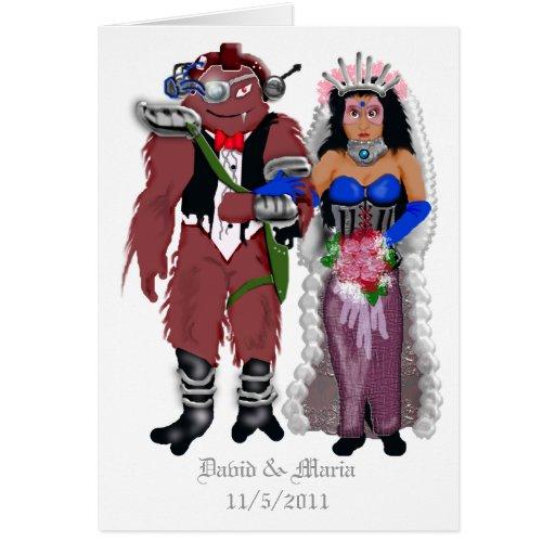 sci-fi wedding 2 card