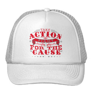 SCID  Take Action Fight For The Cause Hats
