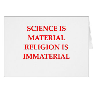 sciemce and religion greeting cards
