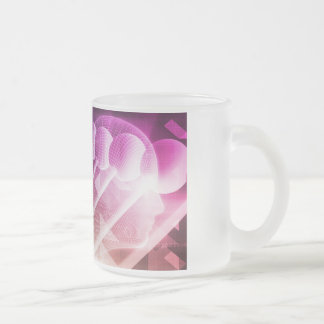 Science Abstract Presentation Background Frosted Glass Coffee Mug