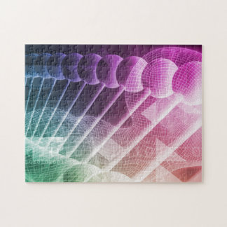 Science Abstract Presentation Background Jigsaw Puzzle