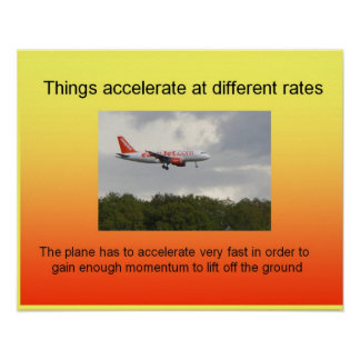 Science Acceleration, different rates Poster