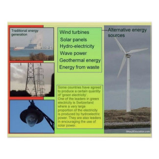 Science, Alternative sources of Energy Poster