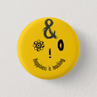 Science Ampersand Techie Humorous Teachers Design Pinback Button